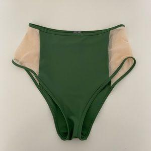 Aerie | Cheeky High Waisted Bikini Bottoms Green